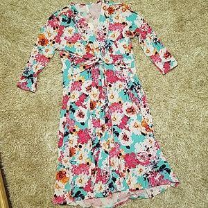 pinkblush blue floral maternity dress